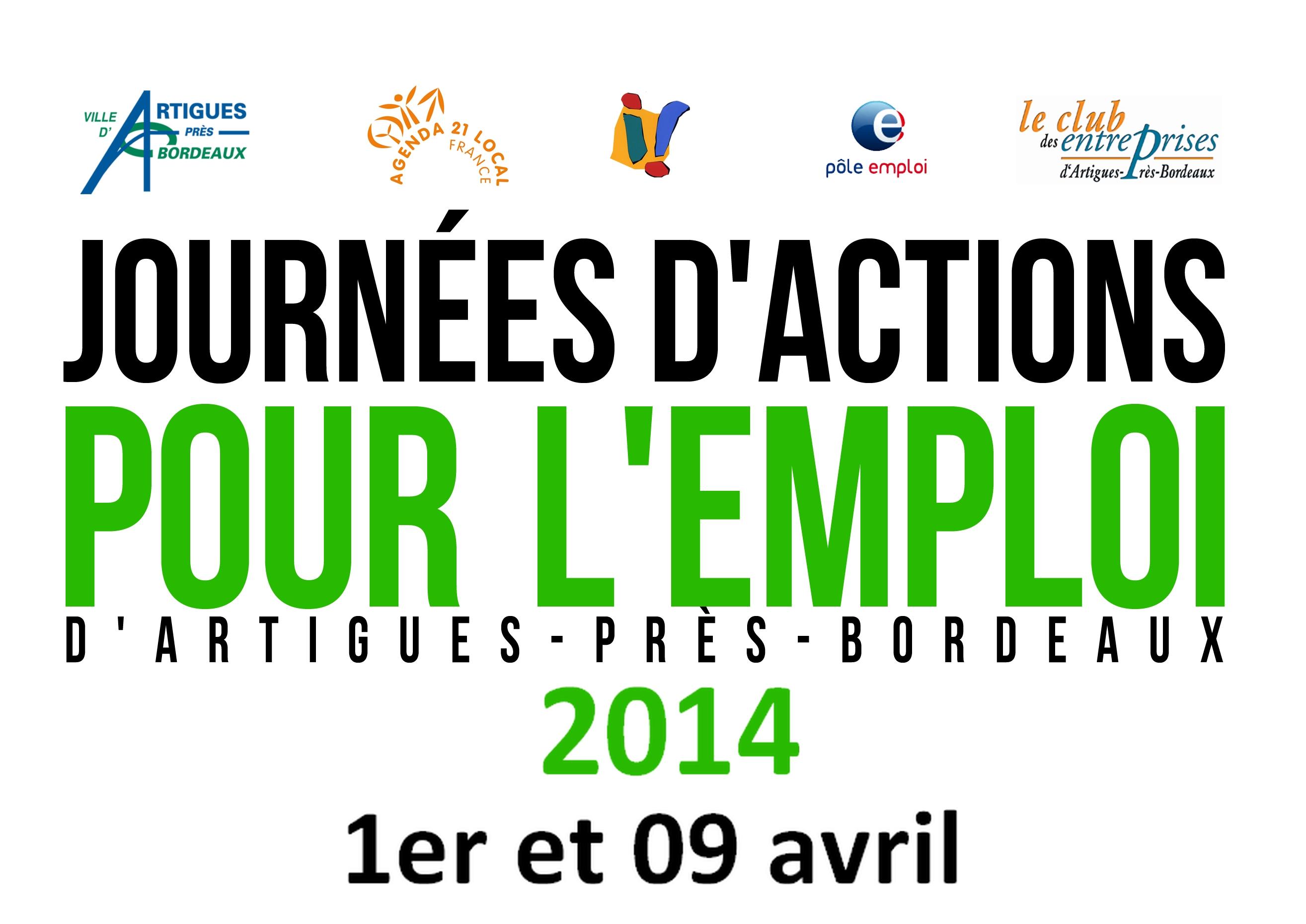 Les journées d'actions pour l'emploi d'Artigues-près-Bordeaux 01 et 09 avril