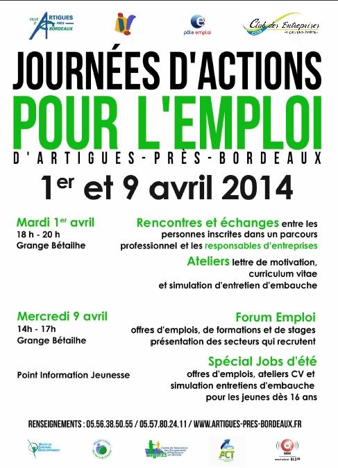Forum Emploi Formation Jobs d'été, mercredi 09 avril 2014