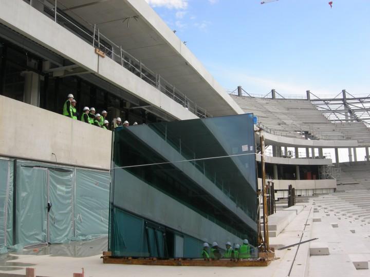 Photos et résumé de la visite privée du chantier du nouveau stade