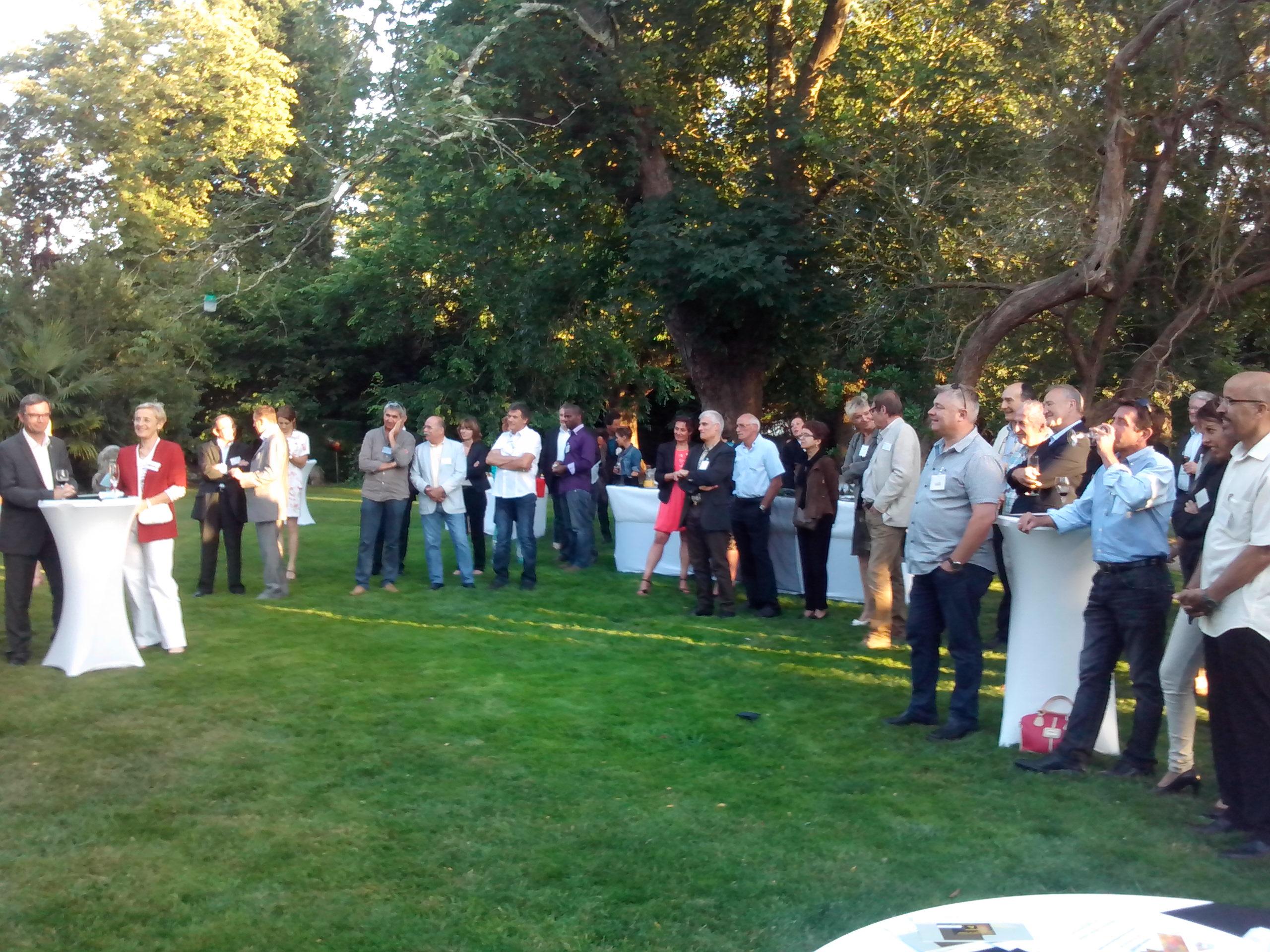 Les participants à la Soirée au Château Saint Aignan du 10 juillet 2014