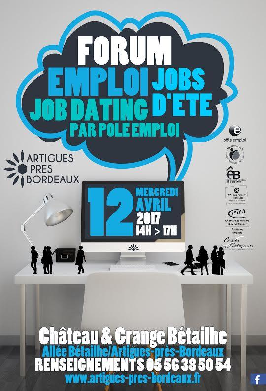 Forum emploi jobs d'été formation le 12 avril 2017  sur la Commune d'Artigues Château Bétailhe