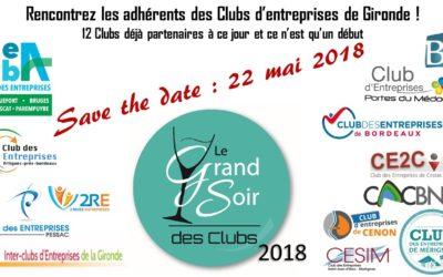 Le GRAND Soir des Clubs d'Entreprises le MARDI 22 MAI 2018