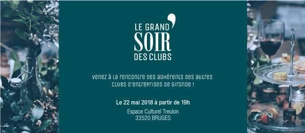 Le Grand Soir des Clubs d'Entreprises Gironde c'est le 22 Mai : Inscrivez-vous sans plus attendre