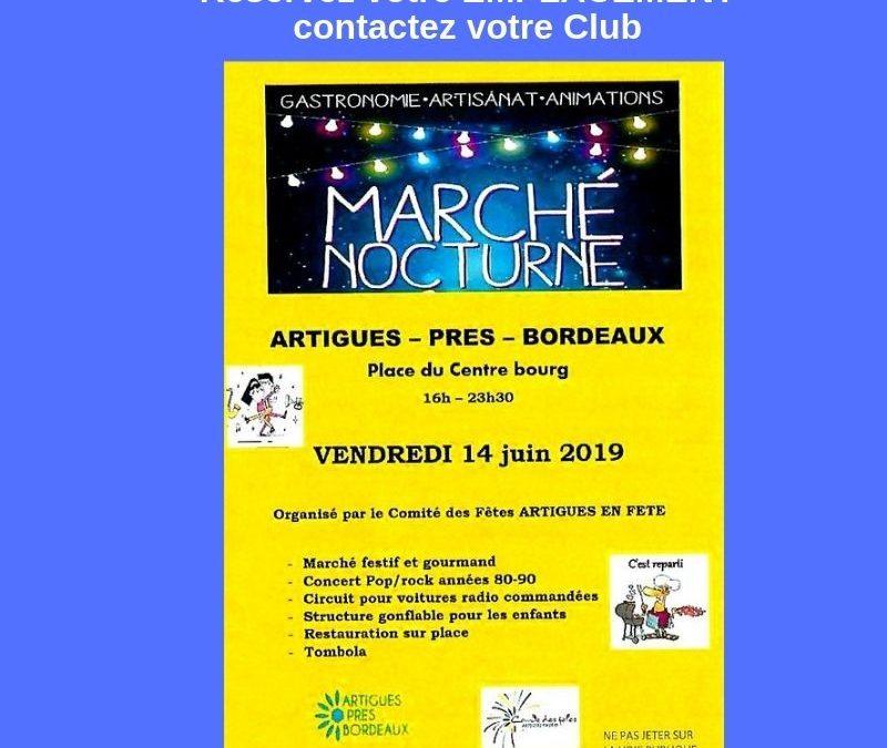 Marché Nocturne à Artigues-près-Bordeaux le Vendredi 14 juin