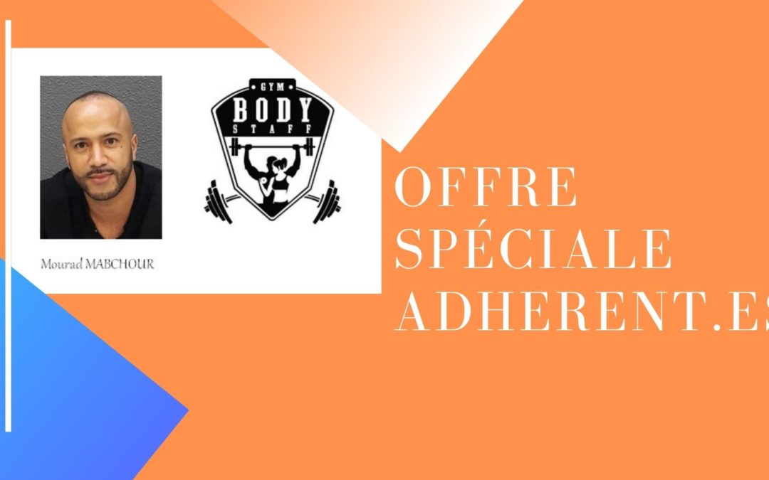 Bienvenue à Mourad MABCHOUR,  BODY STAFF GYM