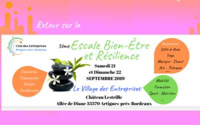 Retour sur l'Escale Bien-Être et Résilience de Septembre 2019 au Château Lestrille Artigues-près-Bordeaux