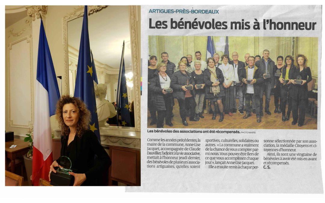 Fabienne Feynaud, Salon de Coiffure Arts et Couleur élue citoyenne d'honneur de la Ville d'Artigues-près-Bordeaux