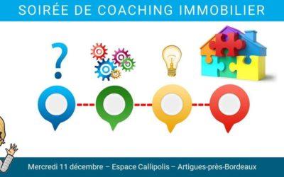 Soirée COACHING IMMOBILIER avec Virginie Chastel Pro Invitation gratuite pour le 11 décembre chez CALLIPOLIS