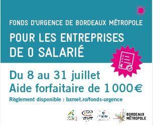 Fonds d'urgence de Bordeaux Métropole pour les Entreprises de 0 salarié